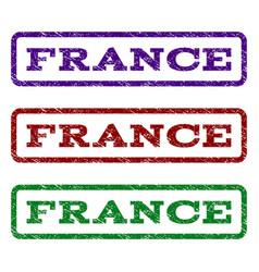 france watermark stamp vector image