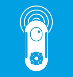 Game joystick icon white vector