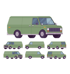 green van set vector image