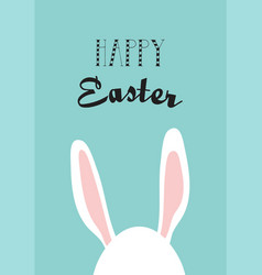 greeting card with hipster easter rabbit vector image