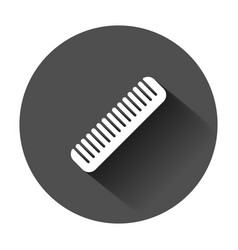 hair brush icon in flat style comb accessory with vector image