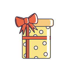 Happy birthday dotted gift box decoration vector