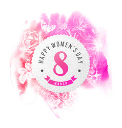 happy womens day 8 march round banner vector image