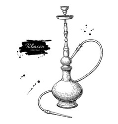 Hookah drawing hand drawn vintage shisha vector