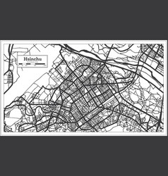 Hsinchu taiwan indonesia city map in black vector