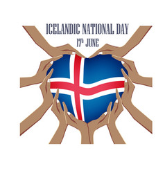 icelandic national day with vector image