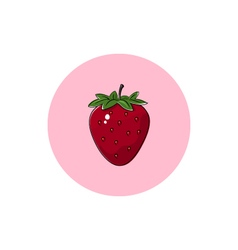 Icon Colorful Strawberry vector image