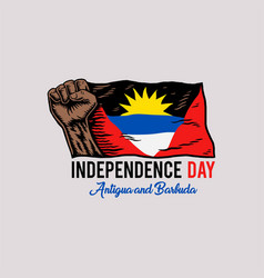 independence day antigua and barbuda vector image