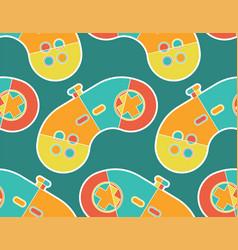 Joystick pattern seamless gamepad ornament game vector