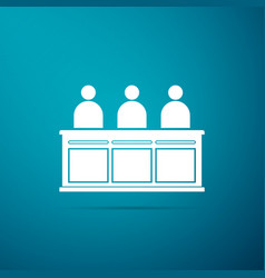 jurors icon isolated on blue background vector image