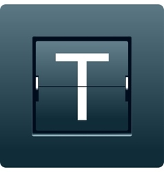 Letter T from mechanical scoreboard vector image
