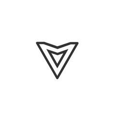 letter v logo alphabet icon set vector image