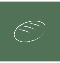 Loaf icon drawn in chalk vector image