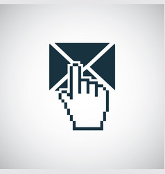 mail select icon trendy simple concept symbol vector image