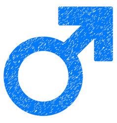 Mars symbol grunge icon vector