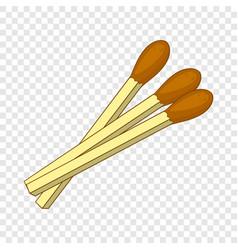 Matches icon cartoon style vector