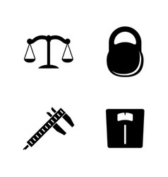 Measuring instruments simple related icons vector