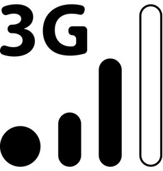 Mobile smart phone 3g network icon vector