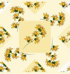 modern botanical background hand drawn folk vector image