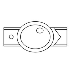 oval shaped buckle icon outline style vector image