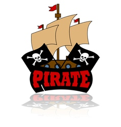 Pirate Ship Cartoon Template Vector Images Over 130