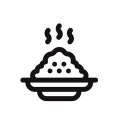 Porridge icon vector