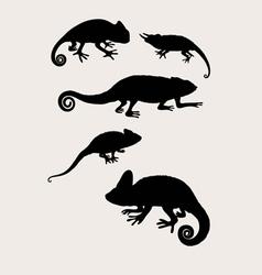 Reptilian Silhouettes vector
