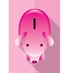 Save Money Piggy Poster vector image