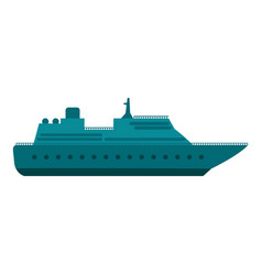 sea ship icon flat style vector image