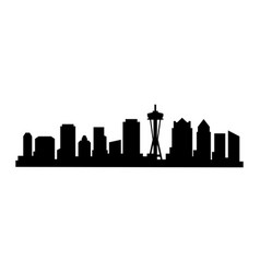 seattle icon vector image