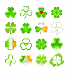Selection of shamrock vector
