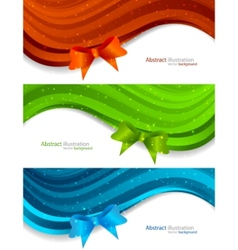 set of banners with bow vector image vector image
