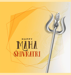 Shivratri festival greeting with trishul vector