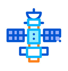 space satellite station icon outline vector image