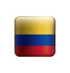 square with colors colombian flag vector image