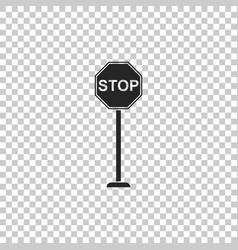 stop sign icon isolated on transparent background vector image