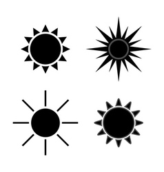 Sun icons set gray isolated vector image