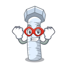 Super hero metal bolt that isolated on mascot vector