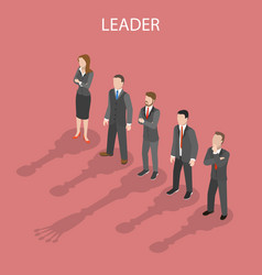 Team leader isometric flat conceptual vector