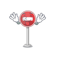 Tongue out miniature no entry on mascot table vector