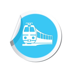 Train icon round blue copy vector