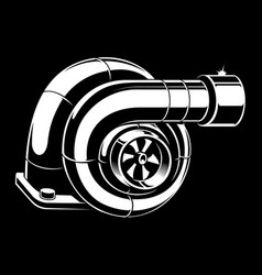turbocharger vector image