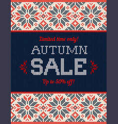 ugly sweater christmas season winter autumn sale vector image