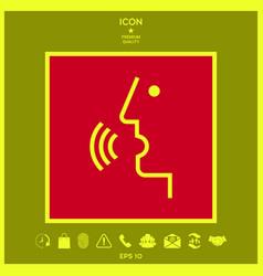 voice control person talking - icon vector image