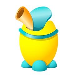 wastebasket vector image