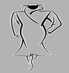 Woman In Coat And Hat vector