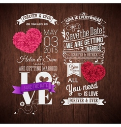 Wooden background typography design and decorative vector image