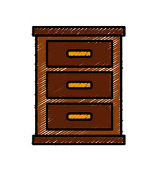 wooden nightstand isolated vector image