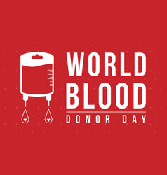 World blood donor day background art vector