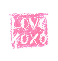 Xoxo and love lettering for valentines day vector